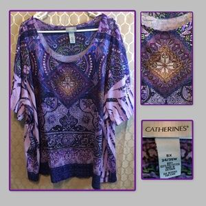 Cute boho style blouse by Catherine's size 5X